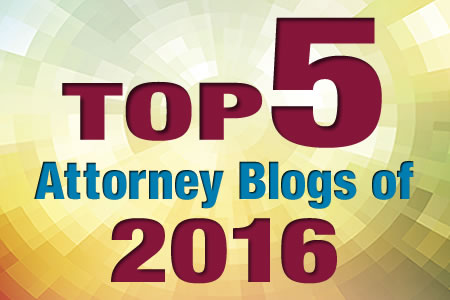 Top 5 Attorney Blogs of 2016